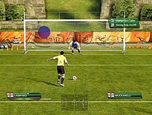 05cad1b9d The method of taking a penalty kick was altered on the game. In the  player s display in the bottom-left