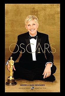 0fd9367863e7 Official poster featuring Ellen DeGeneres promoting the 86th Academy Awards  in 2014.