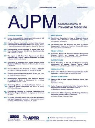 American Journal of Preventive Medicine - Image: AJPM cover May 2018