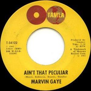 Ain't That Peculiar - Image: Ain't That Peculiar cover