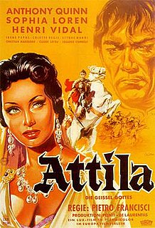 <i>Attila</i> (1954 film) 1954 film by Pietro Francisci