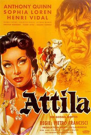 Attila (1954 film) - Western Germany Poster
