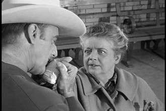 Aunt Bee - Aunt Bee is flattered by Colonel Harvey, a traveling medicine man. Bee invites him home for dinner.