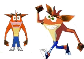 Crash Boom Bang! - Crash Bandicoot's model was the only one to be altered for the non-Japanese releases