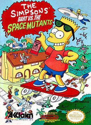 The Simpsons: Bart vs. the Space Mutants - Image: Bart vs. The Space Mutants cover