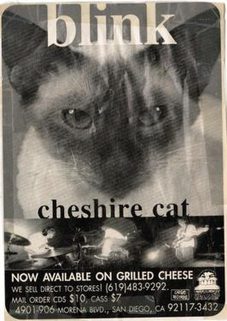 Cheshire Cat (Blink-182 album) - Cargo promoted the album with adverts in skateboarding magazines, such as Thrasher.