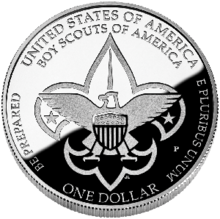 Boy Scouts of America Silver Dollar Centennial Commemorative Coin reverse.png