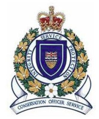 British Columbia Conservation Officer Service - Image: British Columbia Conservation Officer Service (crest)