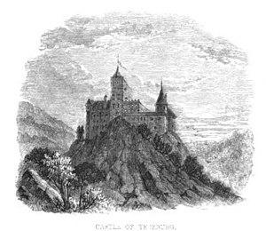 Castle Dracula - Castle at Törzburg, ill. from Charles Boner