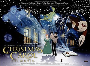 Christmas Carol: The Movie - Original British quad poster