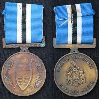 Ciskei Defence Medal - Image: Ciskei Defence Medal, 1988