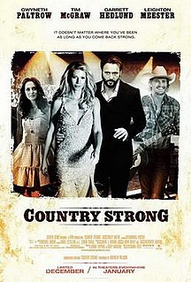 <i>Country Strong</i> 2010 American film