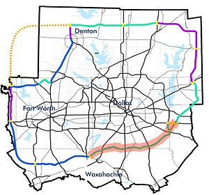 North Texas Tollway Map