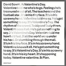 Valentine S Day David Bowie Song Wikipedia