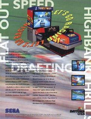 Daytona USA (video game) - Daytona USA arcade flyer