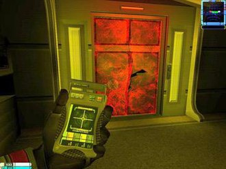 Star Trek: Elite Force II - When switched to secondary mode the tricorder can detect and highlight structural defects.