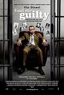 <i>Find Me Guilty</i> 2006 American courtroom comedy crime film directed by Sidney Lumet
