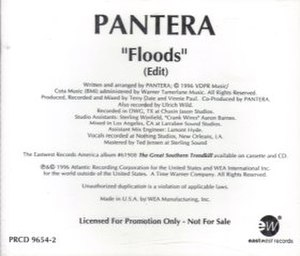 Floods (Pantera song) - Image: Floods (song)