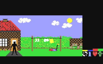 Frankie Goes to Hollywood (video game) - Screenshot from the Commodore 64 version.