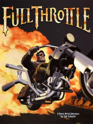 Full Throttle (1995 video game) - The cover art of Full Throttle, depicting protagonist Ben