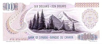 Scenes of Canada - Image: Giori proposed design for Scenes of Canada $10 banknote, reverse