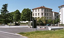 The railway square viewed from the Slovenian railway station in Nova Gorica [Photo: RP].