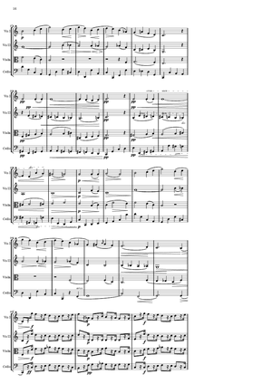 Salomon Jadassohn - A page from Jadassohn's string quartet (dedicated to Moritz Hauptmann), published in the 1850s - the end of the second group, just before the coda of the first movement.