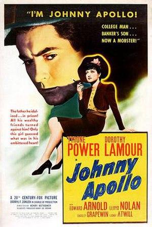 Johnny Apollo (film) - Movie poster