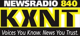KXNT (AM) - Logo prior to 2010