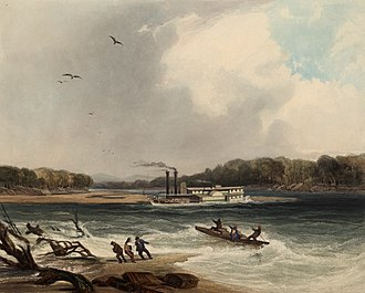 Fur trade in Montana - The steamboat Yellowstone (1833)
