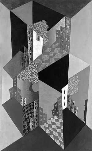 Léopold Survage - Léopold Survage, 1920, La Ville (The Town), oil on canvas, 254 x 152 cm (black and white photographic reproduction)