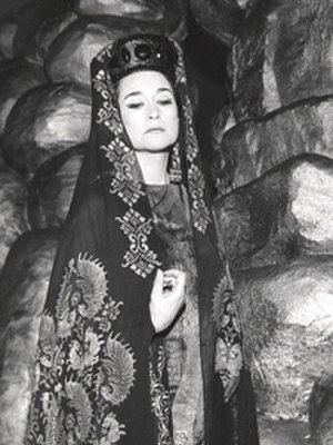 Leyla Gencer - Leyla Gencer as Antonina in Gaetano Donizetti's Belisario at La Fenice in Venice, 1969.
