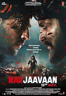 <i>Marjaavaan</i> 2019 Indian Hindi-language action drama film directed by Milap Zaveri