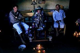Maximón - Maximón and attendants, Santiago Atitlán