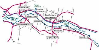 Newcastle, New Brunswick - Communities amalgamated in 1995 to form the City of Miramichi, New Brunswick