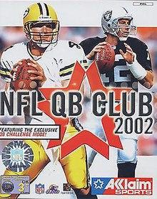 b2f3b6330 NFL QB Club 2002 - PAL region cover art featuring Brett Favre (left) and