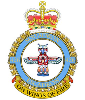 426 Transport Training Squadron - Image: No. 426 Squadron RCAF badge