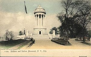 Soldiers' and Sailors' Monument (Manhattan) - The monument c.1908