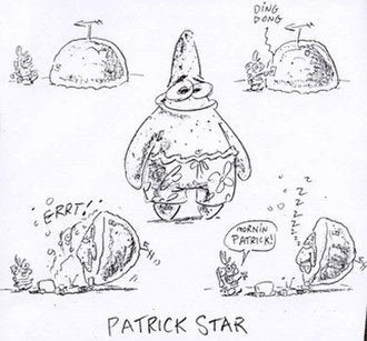 Patrick Star - Early drawings of Patrick from Stephen Hillenburg's bible.