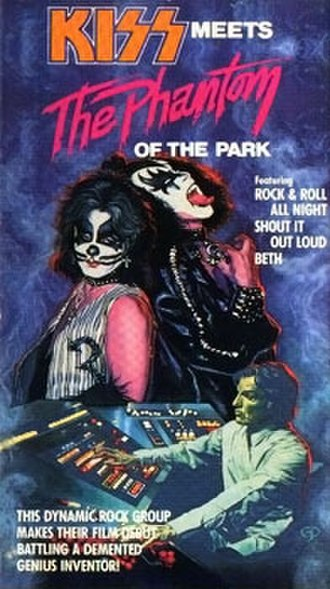 Kiss Meets the Phantom of the Park - Cover of the film's 1988 VHS release