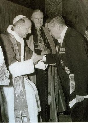 Zhang Qun - Pope Paul VI receives Special Envoy Chang in 1965