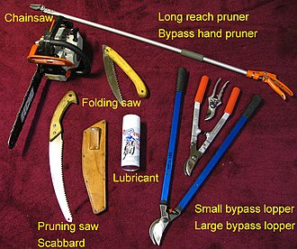 Garden tool - Some pruning tools that can be used to maintain a garden.