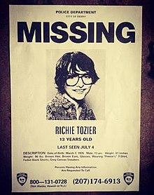 Muschietti Shared A Photo Of A Missing Person Poster Featuring Richie  Tozier. The Poster Lists All Of The Characteru0027s Information, As Part Of  Itu0027s Marketing ...  Make A Missing Person Poster