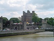 Rochester Castle view from River Medway
