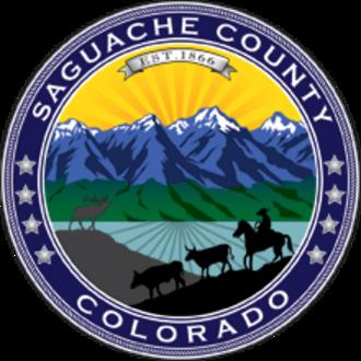Saguache County, Colorado - Image: Seal of Saguache County, Colorado