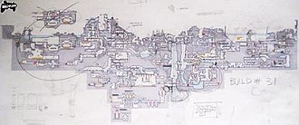 Shadow Complex - The developers at Chair used iterations on hand-drawn maps to plot out the world that the player would explore in Shadow Complex.
