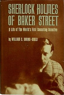 <i>Sherlock Holmes of Baker Street</i> 1962 book by William S. Baring-Gould