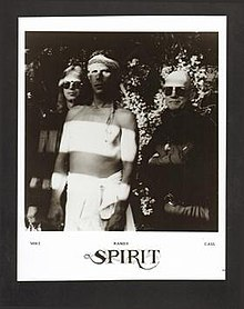 Spirit, 1990. L-R: Mike Nile, Randy California, and Ed Cassidy.