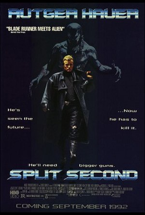 Split Second (1992 film) - Theatrical release poster