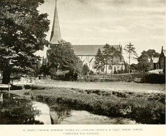 Samuel Carpenter - St. Mary's Parish Church in Horsham circa 1910.